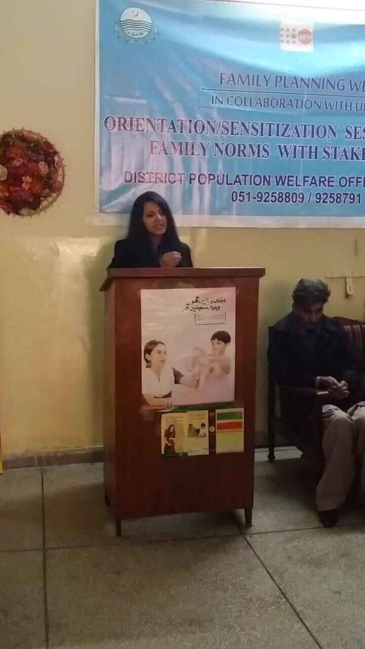 Orientation/Sensitization session about Family Planning Methods. Event organized by FHC BBH administration