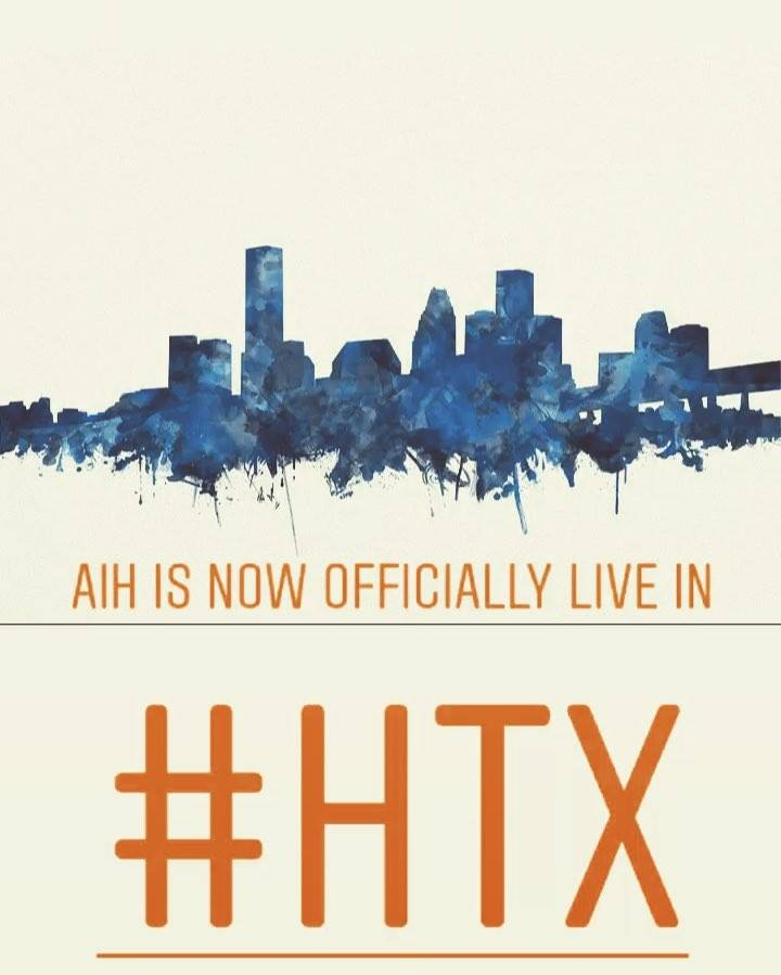 After a long hiatus, we have finally settled down in H-Town🛣!  Message us to see how #aih can help you and our community...